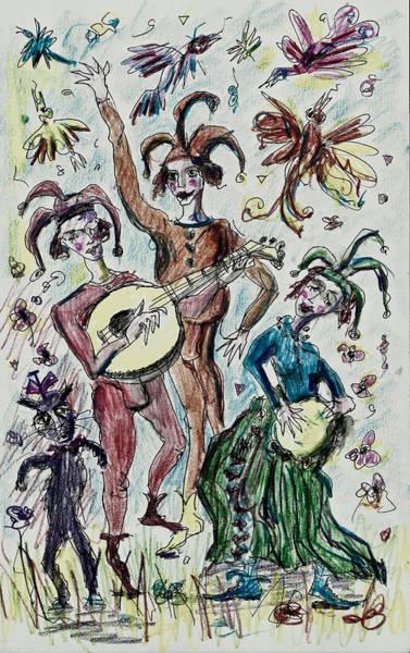 Drawing - Troubadours by Maxim Komissarchik