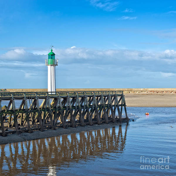 Norman Photograph - Trouville Lighthouse by Delphimages Photo Creations