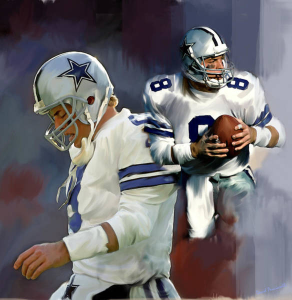 Wall Art - Painting - Troy Aikman  Aikam by Iconic Images Art Gallery David Pucciarelli