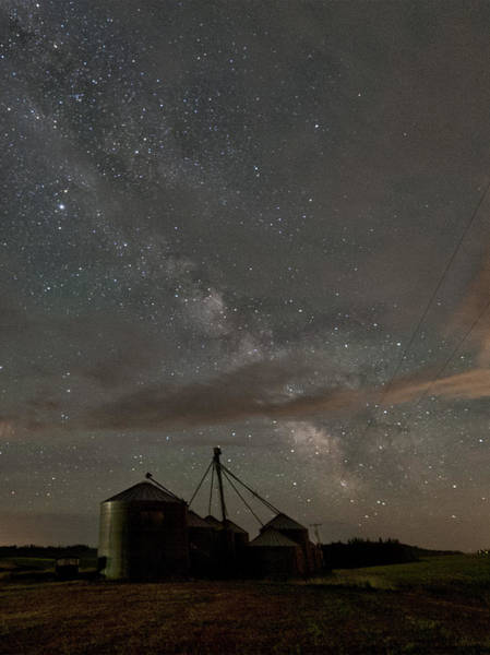 Elevator Photograph - Troy Milky Way by Latah Trail Foundation