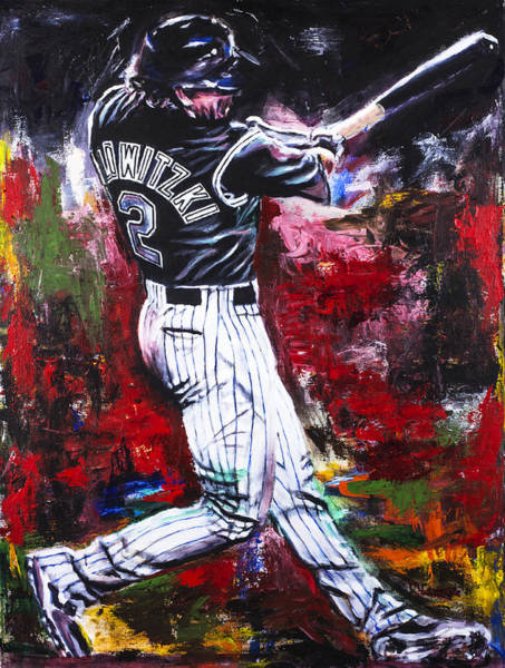 Abstract Expressionism Wall Art - Painting - Troy Tulowitzki by Mark Courage
