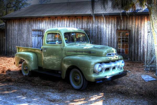 Truck By The Barn Art Print