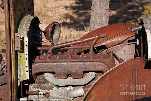 Photograph - Truck Engine by Fred Stearns