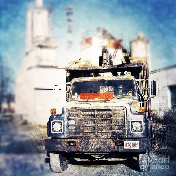 Cement Photograph - Truck by HD Connelly
