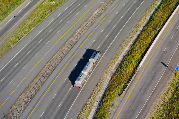 Trailer Photograph - Truck Moving On A Highway, Interstate by Panoramic Images