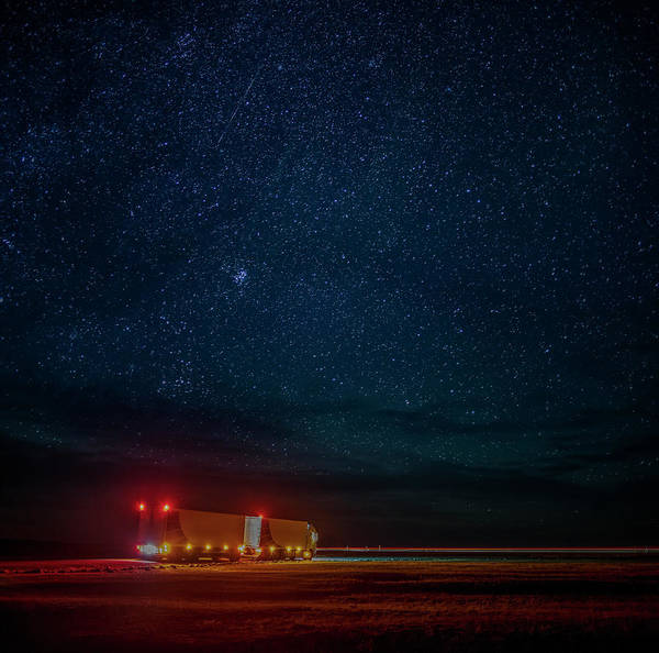 1 Photograph - Truck On The Move With A Starry Night by Arctic-images