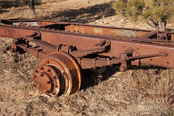 Photograph - Truck Rear Wheel by Fred Stearns