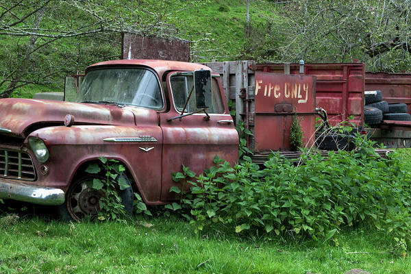 Photograph - Truck Was For Fire Only by Lorraine Devon Wilke