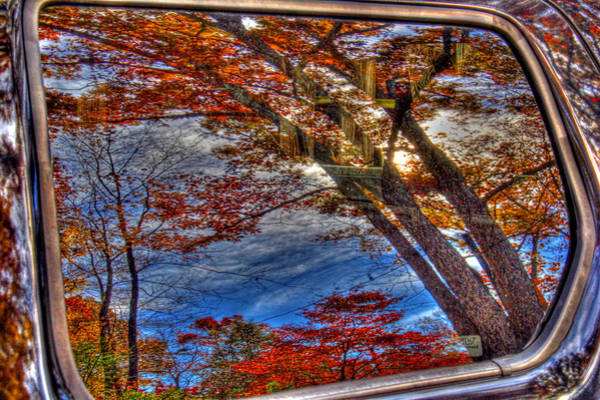 Wall Art - Photograph - Truck Window Reflection 02 by Andy Lawless