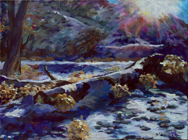 Painting - Truckee River Snow Tree by Susan Moore