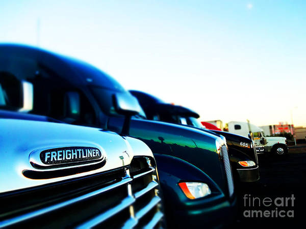 Freightliner Wall Art - Photograph - Truckline 2 by Korynn Neil