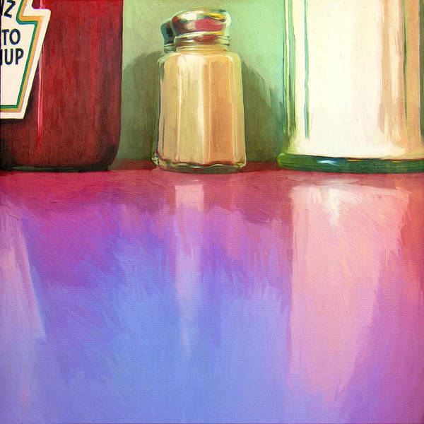 Catsup Painting - Truckstop by Dominic Piperata