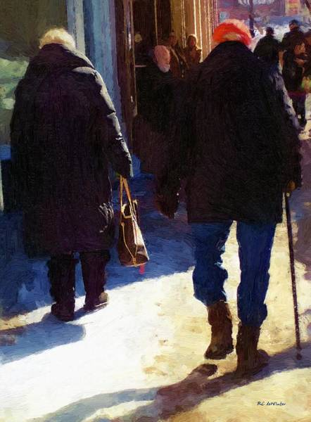 Painting - Trudging Along by RC DeWinter