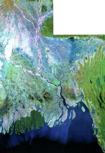 Ganges River Photograph - True-colour Landsat Satellite Mosaic Of Bangladesh by Mda Information Systems/science Photo Library