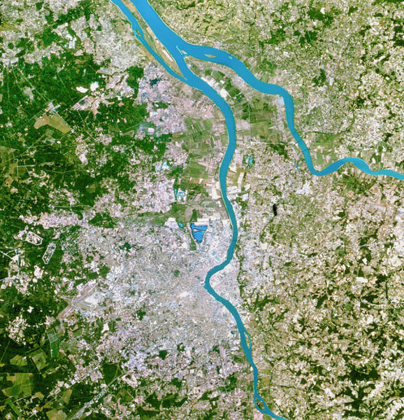 Wall Art - Photograph - True-colour Satellite Image Of Bordeaux by Planetobserver/science Photo Library