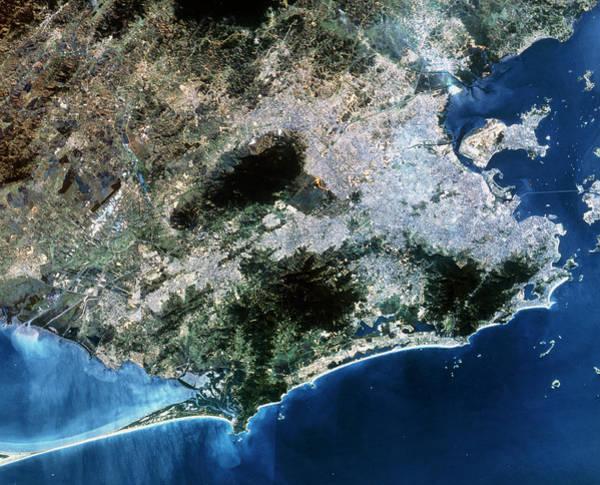 Rio De Janeiro Photograph - True-colour Spot Satellite Image Of Rio De Janeiro by Mda Information Systems/science Photo Library