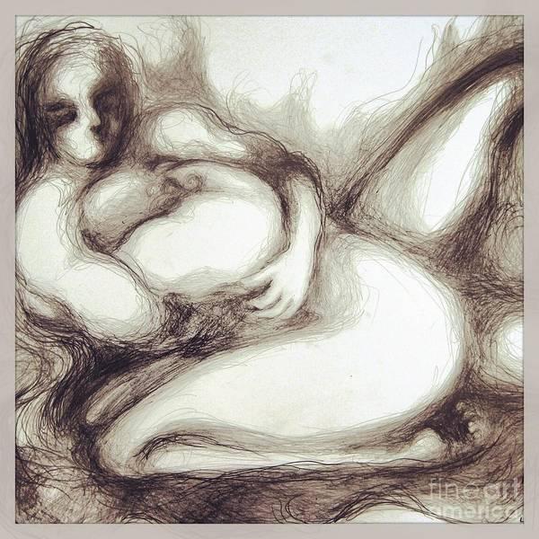 Drawing - True Despair And A Golden Heart by Marat Essex
