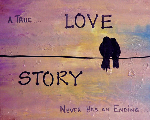 Kag Wall Art - Painting - True Love by Gina Cooper