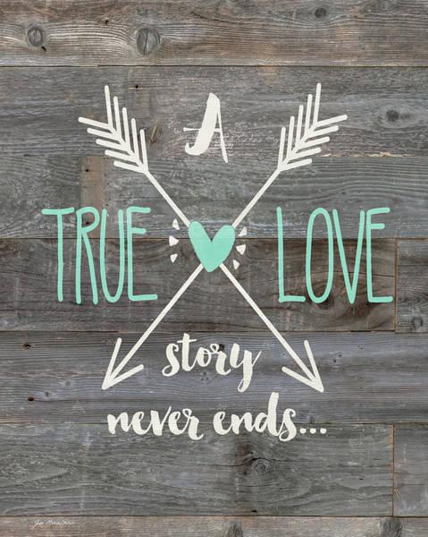 Wall Art - Painting - True Love Story by Jo Moulton