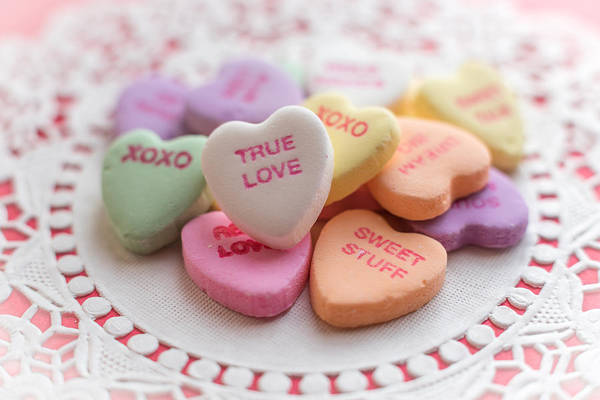 Photograph - True Love Valentine Candy Hearts by Terry DeLuco