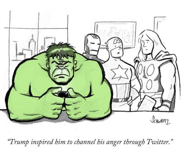 Iron Drawing - Trump Inspired by Benjamin Schwartz