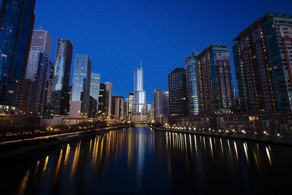 Photograph - Trump Tower And Chicago River At Dawn by Sven Brogren