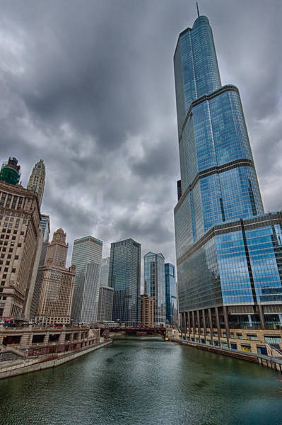 Michigan Ave Photograph - Trump Tower At The River by Mike Burgquist