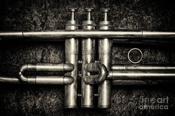 Photograph - Trumpet Abstract by Tim Gainey