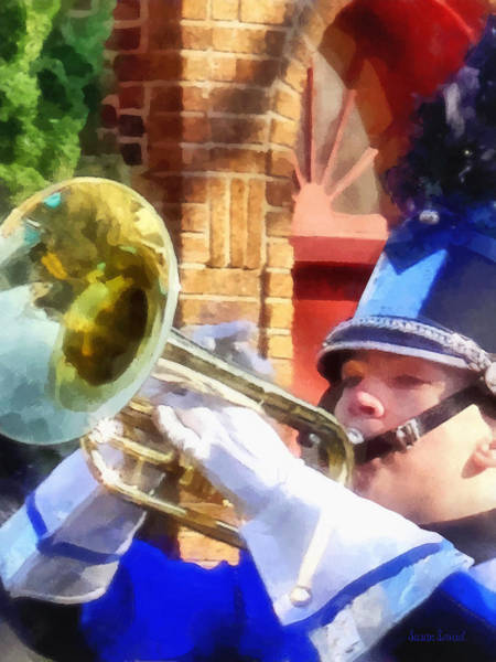 Photograph - Trumpet Player In Marching Band by Susan Savad