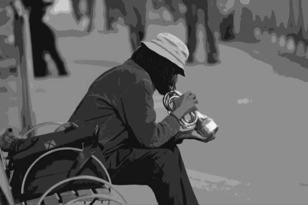 Park Bench Digital Art - Trumpet Player by Kevin Barron