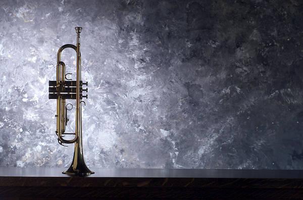 Trumpet Photograph - Trumpet Silhouette  by Jon Neidert