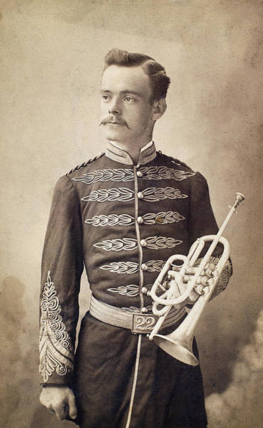 Photograph - Trumpeter, 19th Century by Granger