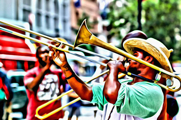 Photograph - Trumpeter In The Street by Alice Gipson
