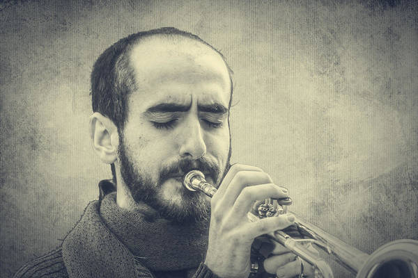 Photograph - Trumpeter by Roberto Pagani