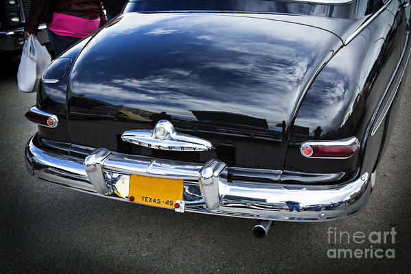Photograph - Trunk And Tail Lights 1949 Mercury Classic Car In Color 3199.02 by M K Miller