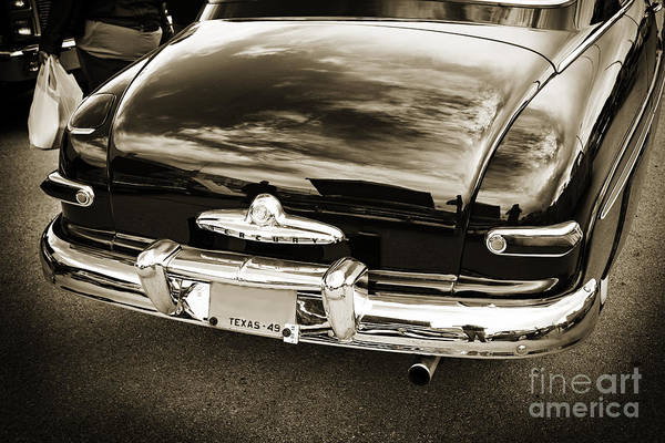 Photograph - Trunk And Tail Lights 1949 Mercury Classic Car In Sepia 3199.01 by M K Miller