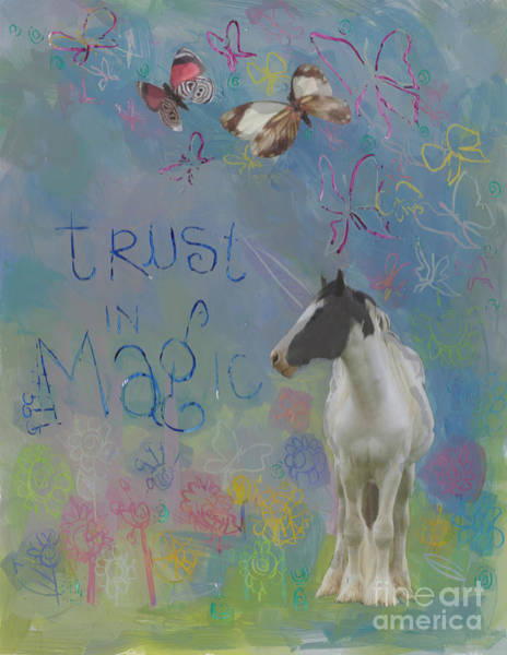 Spark Painting - Trust In Magic by Kimberly Santini