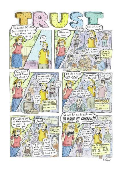 2004 Drawing - Trust by Roz Chast