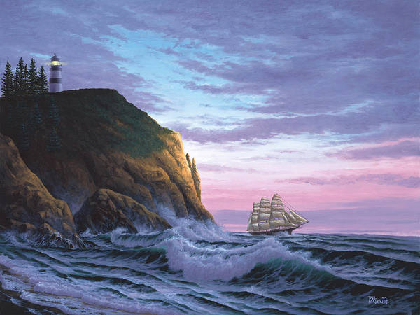 Painting - Trusting The Light by Del Malonee