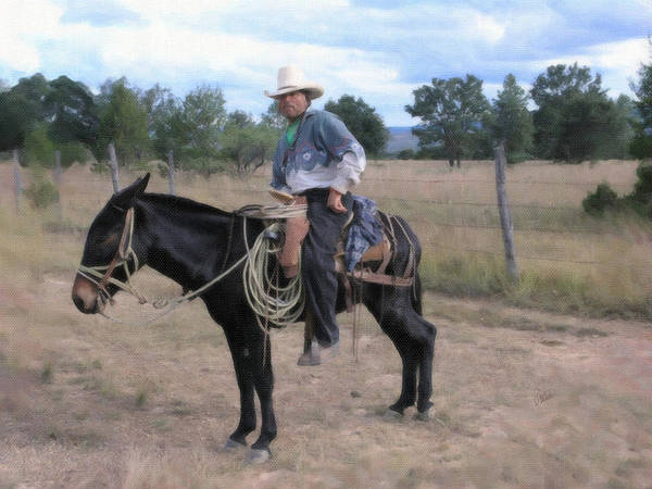 Painting - Trusty Mule by Dean Wittle