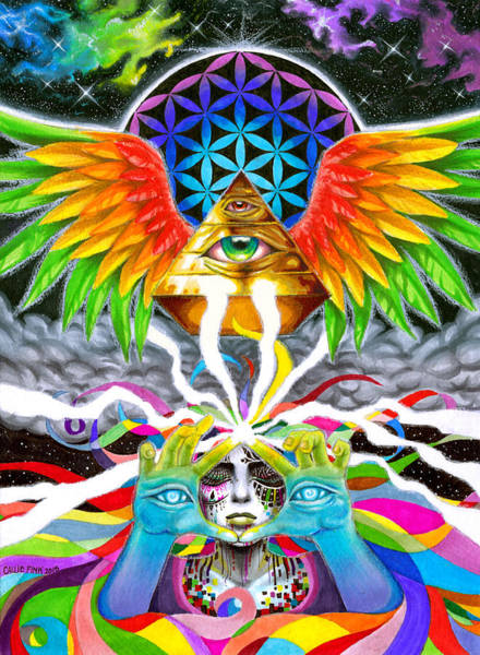 Trippy Wall Art - Drawing - Truth by Callie Fink