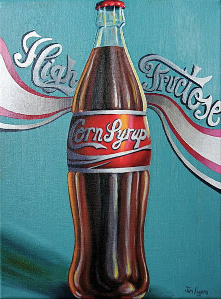 Soda Pop Painting - Truth In Labeling by Jim Figora
