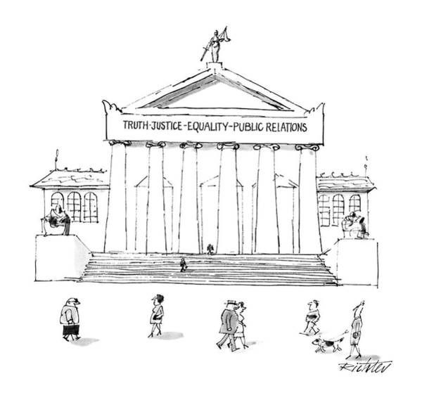 Justice Drawing - Truth Justice Equality Public Relations by Mischa Richter