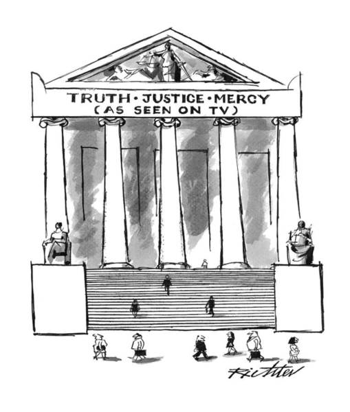 Mercy Wall Art - Drawing - Truth Justice Mercy by Mischa Richter