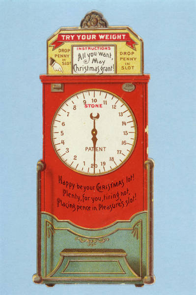 Wall Art - Drawing - 'try Your Weight'          Date Circa by Mary Evans Picture Library
