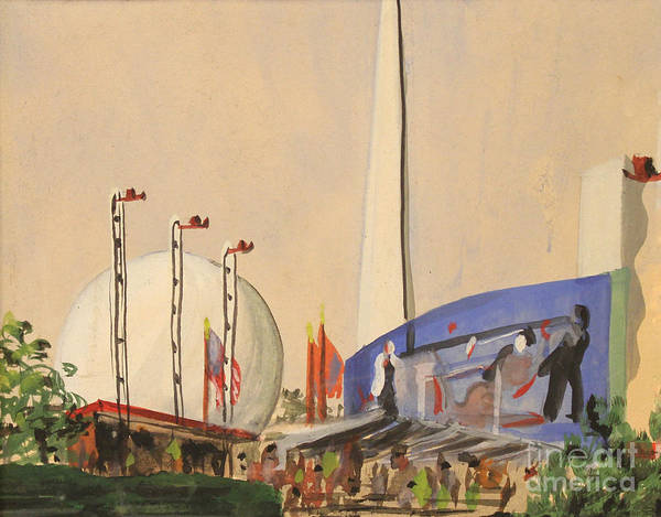 Painting - Trylon And Perisphere Worlds Fair 1939 by Art By Tolpo Collection