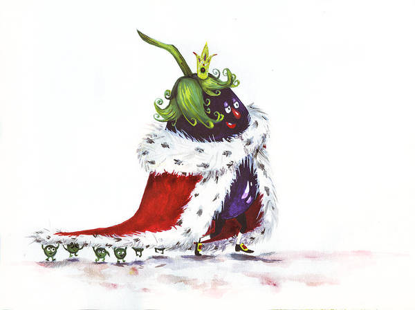 Moscow Mixed Media - Tsar Eggplant by Alina  Kuzmenko