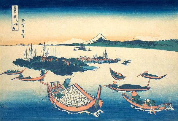 Thirty-six Views Of Mount Fuji Wall Art - Painting - Tsukudajima In Musashi Province by Katsushika Hokusai