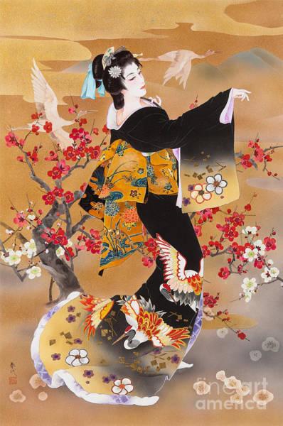 Japanese Art Digital Art - Tsuru Kame by MGL Meiklejohn Graphics Licensing