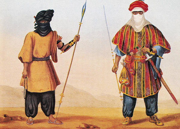 Nomad Drawing - Tuaregs, 1821 by Granger